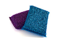 Two metallic kitchen sponges Stock Image