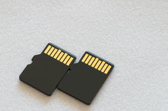 Two micro SD card Royalty Free Stock Photography