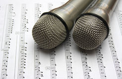 Two Microphone Stock Photo