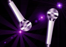 Two Microphone Royalty Free Stock Images