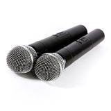 Two microphone wireless Stock Photos