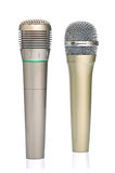 Two microphones. On white background Royalty Free Stock Images