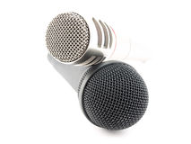 Two microphones Royalty Free Stock Photos