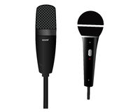 Two microphones Stock Photos