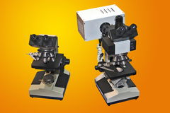 Two microscopes Stock Photography