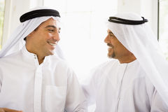Two Middle Eastern men stock photography