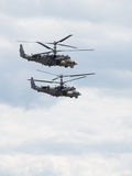Two military helicopters, the Russian Air Force Royalty Free Stock Photos