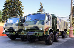 Two military vehicles Royalty Free Stock Photography