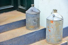 Two Milk cans Stock Images