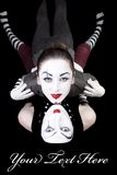 Two mimes on black background Stock Photography