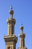 Two Minarets of Mosque,Port Said,Egypt. Stonework found on the Minar Mosque,Port Said,Egypt Stock Photos
