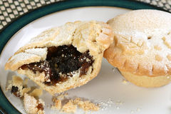 Two mince pies Royalty Free Stock Image