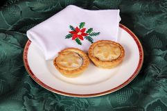 Two mince pies. Stock Image