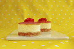 Two mini cheesecakes Stock Photos