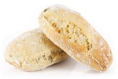 Two mini ciabatta bread Stock Photo