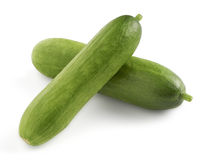 Two mini snack cucumbers Royalty Free Stock Photography