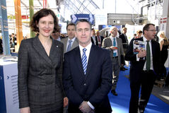 TWO MINISTERS AT EWEA 2015 Royalty Free Stock Images