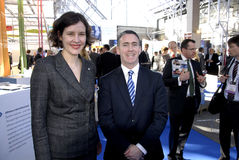 TWO MINISTERS AT EWEA 2015 Stock Photo