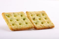 Two Mint crackers in square shape. Stock Images