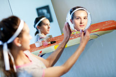 In two mirrors Stock Photography