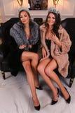 Two Miss Russian Universe 2015 contest winners Anna Sizykh (R) and Yulia Krutova (L) Stock Photo