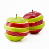 Two mixed apples Royalty Free Stock Photo