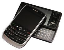 Two mobile phone stock images