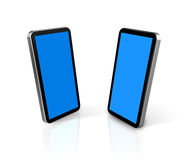Two mobile phones Royalty Free Stock Photos