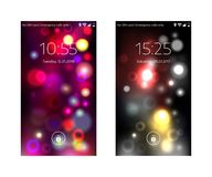 Two mobile wallpapers. Abstract blurry background. Mobile interface. Vector illustration. Two mobile wallpapers. Abstract blurry background. Mobile interface Royalty Free Stock Image