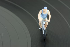 Two model people in cycle race Stock Images