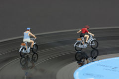 Two model people in cycle race Stock Image
