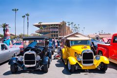 Two Model A roadsters at the Goodguys car show Royalty Free Stock Image