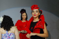 Two model on a Student's fashion parade stock photo