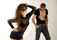 Two models. There are two models, male and female stock images
