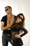 Two models. There are two models, male and female royalty free stock images