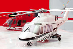 Two models of helicopters Stock Image