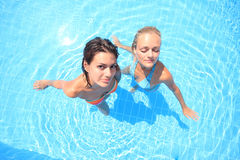 Two models in a pool Stock Photography