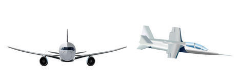 Two modern aircraft Royalty Free Stock Photos