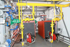 Two modern boilers Royalty Free Stock Photos