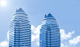 Two modern buildings Royalty Free Stock Photos