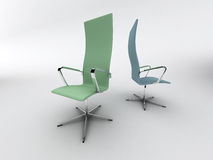 Two modern chairs royalty free illustration
