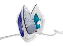 Two modern electric steam iron Royalty Free Stock Photography