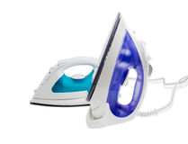 Two modern electric steam iron Royalty Free Stock Images