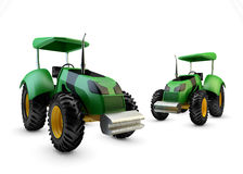 Two Modern green farm tractors  Stock Image