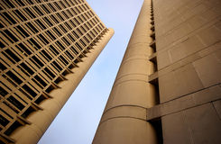 Two modern high-rise buildings Royalty Free Stock Photo