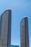 Two Modern High Rise Condo Towers. Modern skyscrapers in the skyline of San Diego Royalty Free Stock Photo