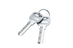 Two modern keys isolated Stock Photo