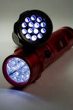Two Modern LED Flashlights Royalty Free Stock Photography