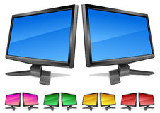 Two modern monitors Stock Images