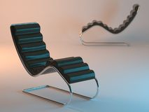 Two modern recliners Royalty Free Stock Image